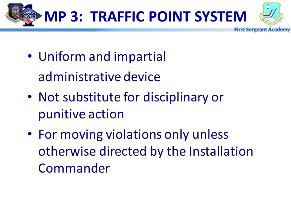 MP 3: TRAFFIC POINT SYSTEM