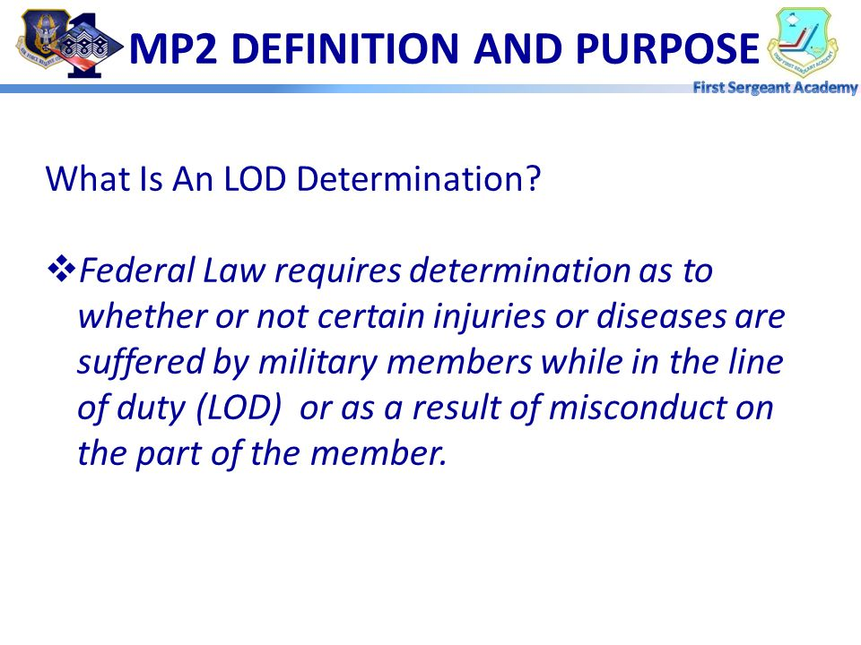 MP2 DEFINITION AND PURPOSE