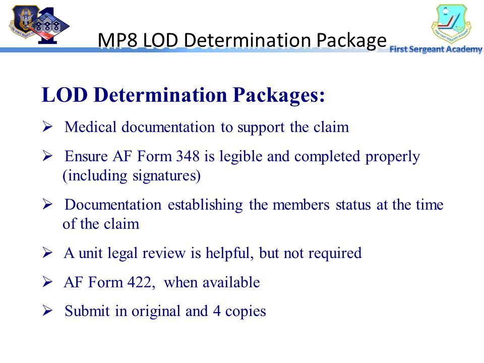 MP8 LOD Determination Package