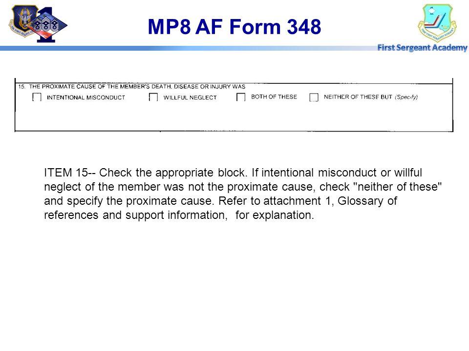 MP8 AF Form 348