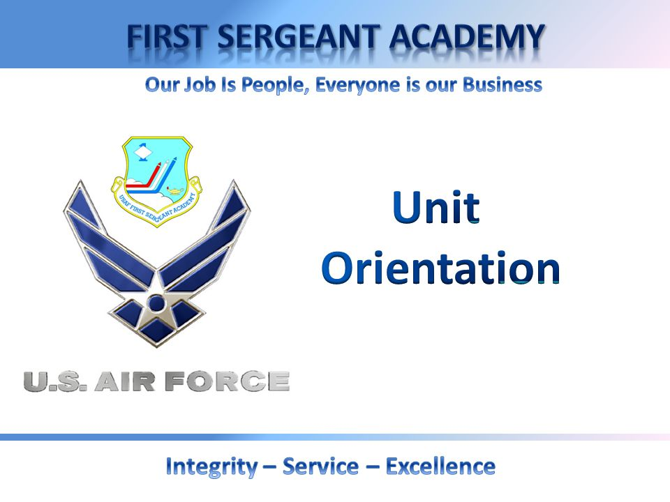Unit Orientation