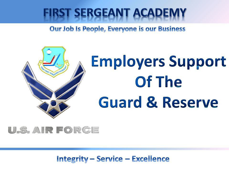 Employers Support Of The Guard & Reserve