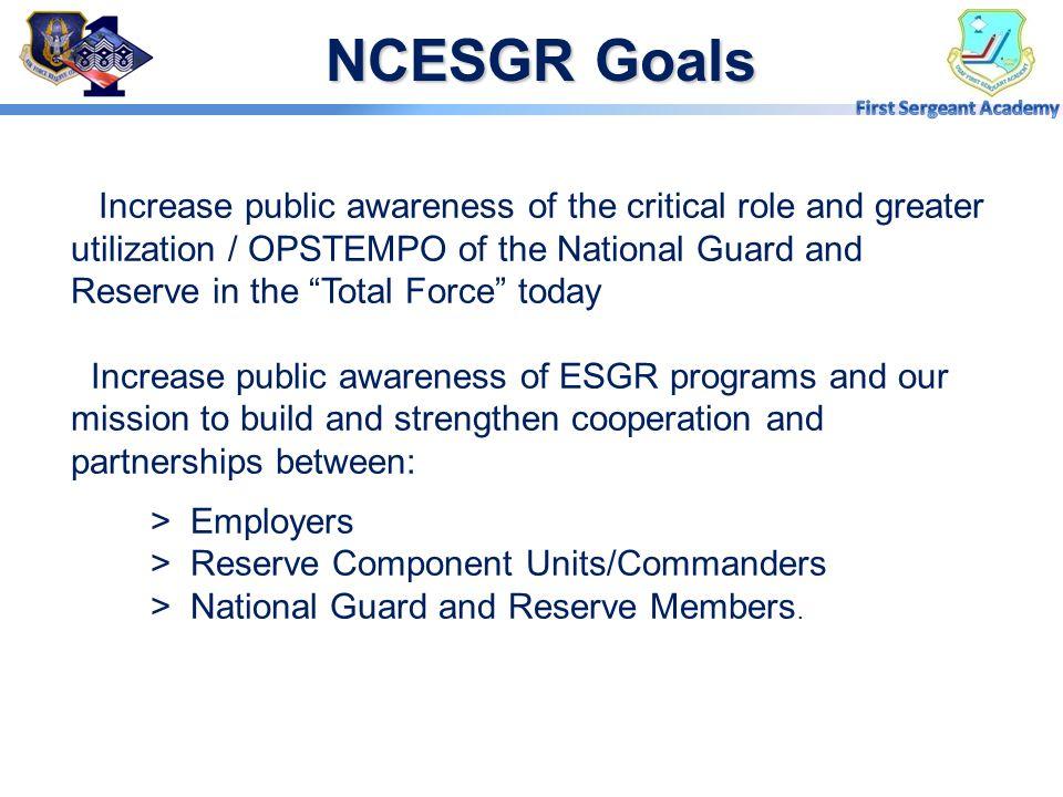 NCESGR Goals