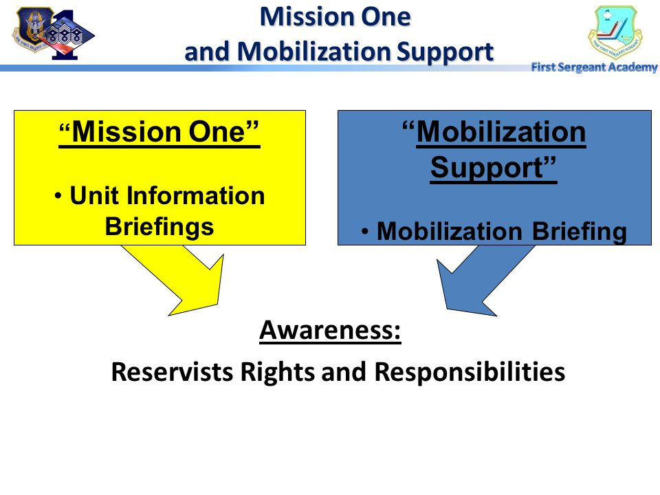 Mission One and Mobilization Support