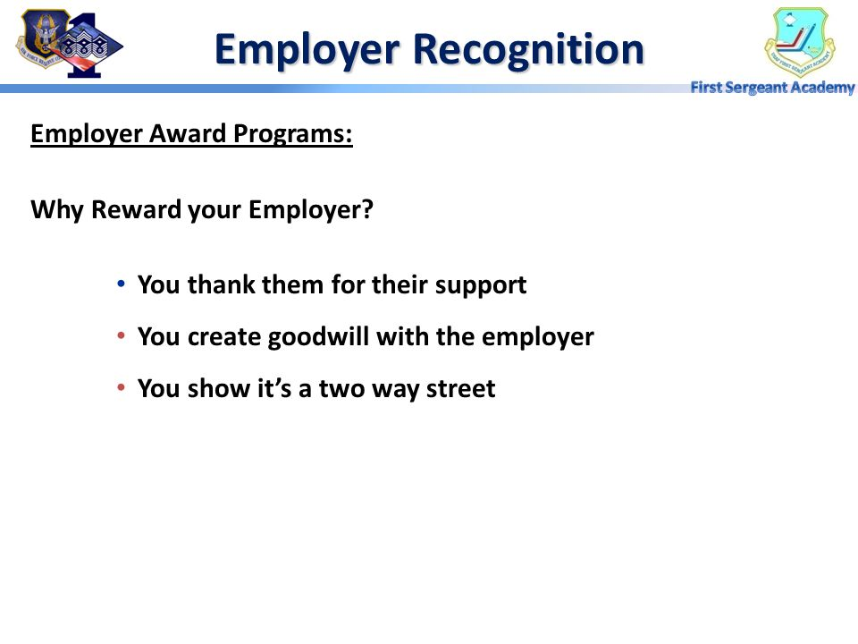 Employer Recognition Employer Award Programs: