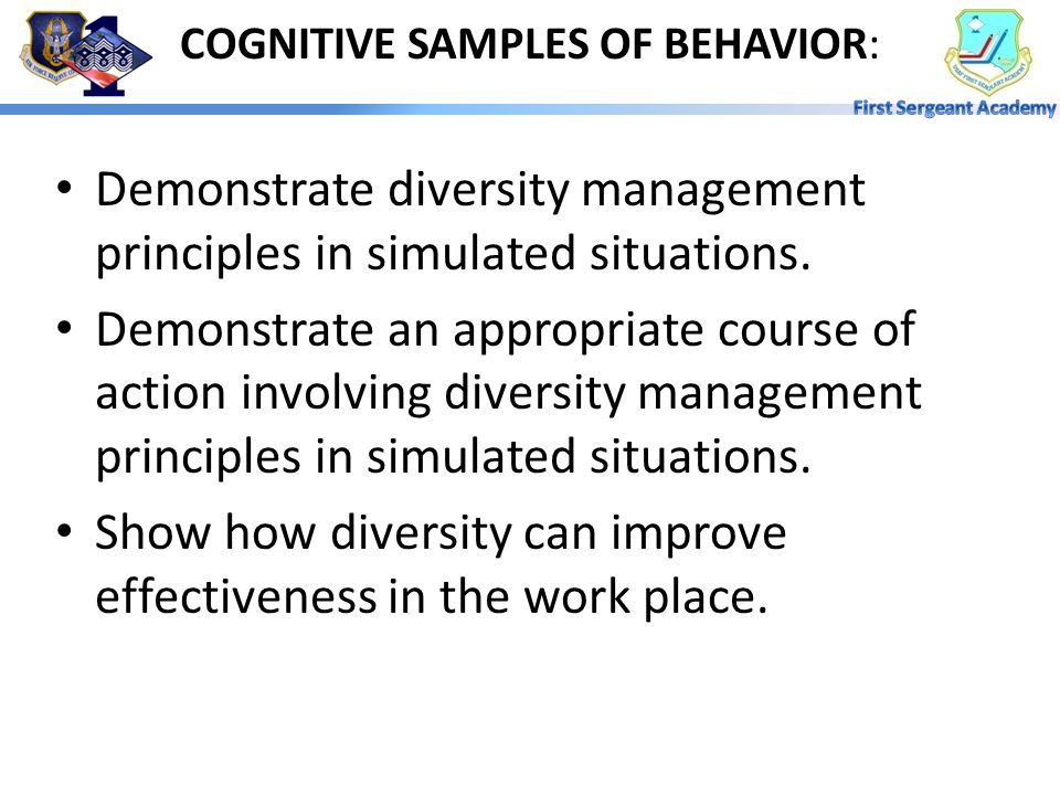 COGNITIVE SAMPLES OF BEHAVIOR: