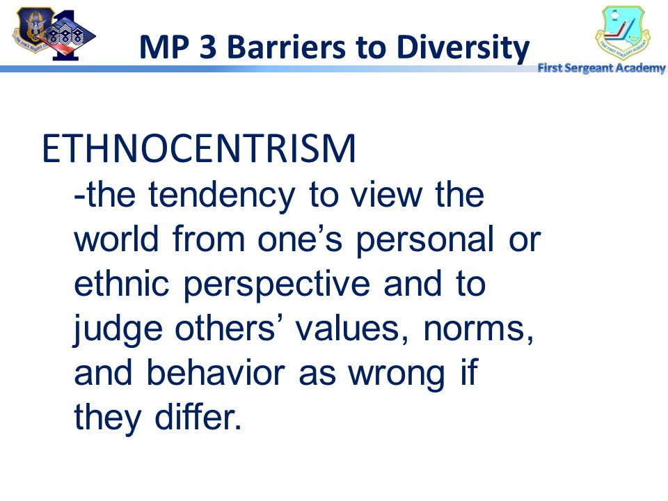 MP 3 Barriers to Diversity