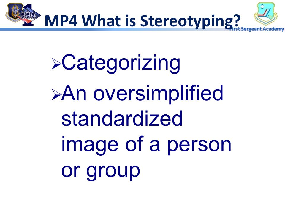 MP4 What is Stereotyping
