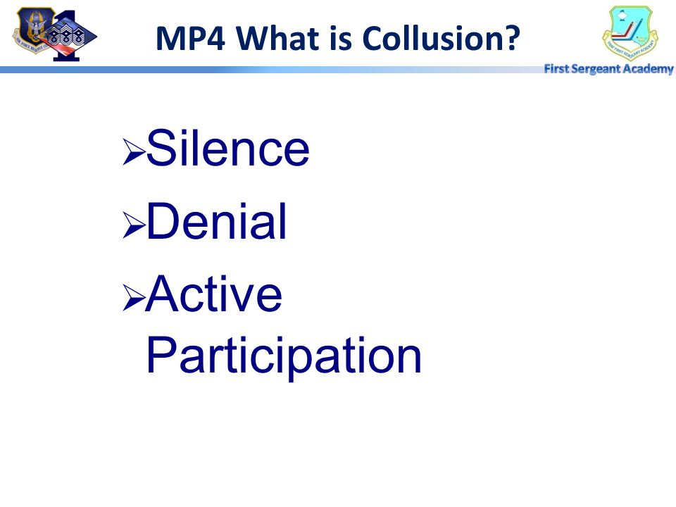 MP4 What is Collusion Silence Denial Active Participation