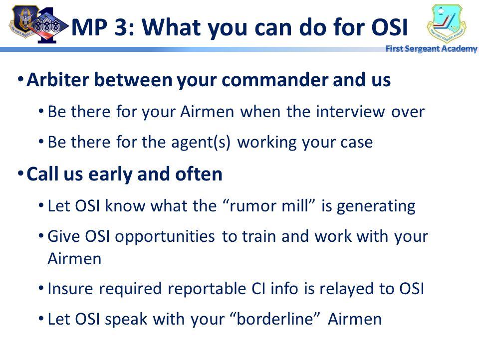 MP 3: What you can do for OSI