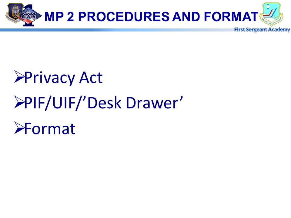 MP 2 PROCEDURES AND FORMAT