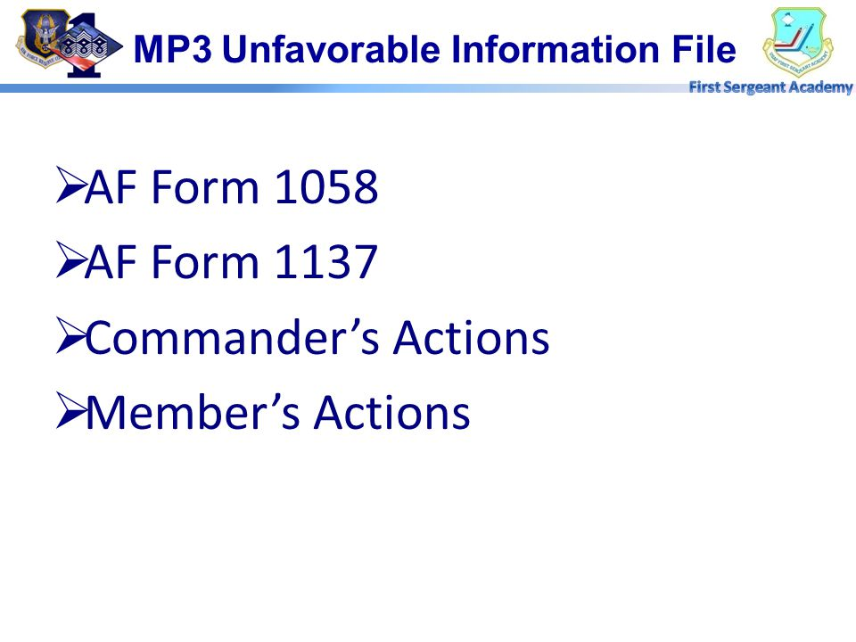 MP3 Unfavorable Information File