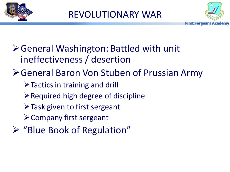 General Washington: Battled with unit ineffectiveness / desertion