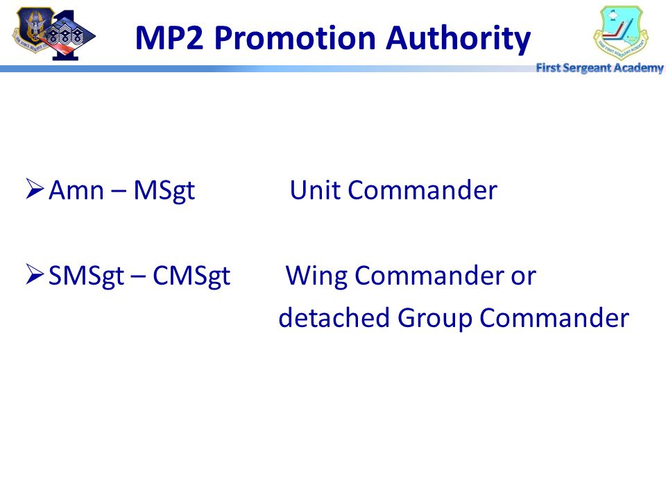 MP2 Promotion Authority