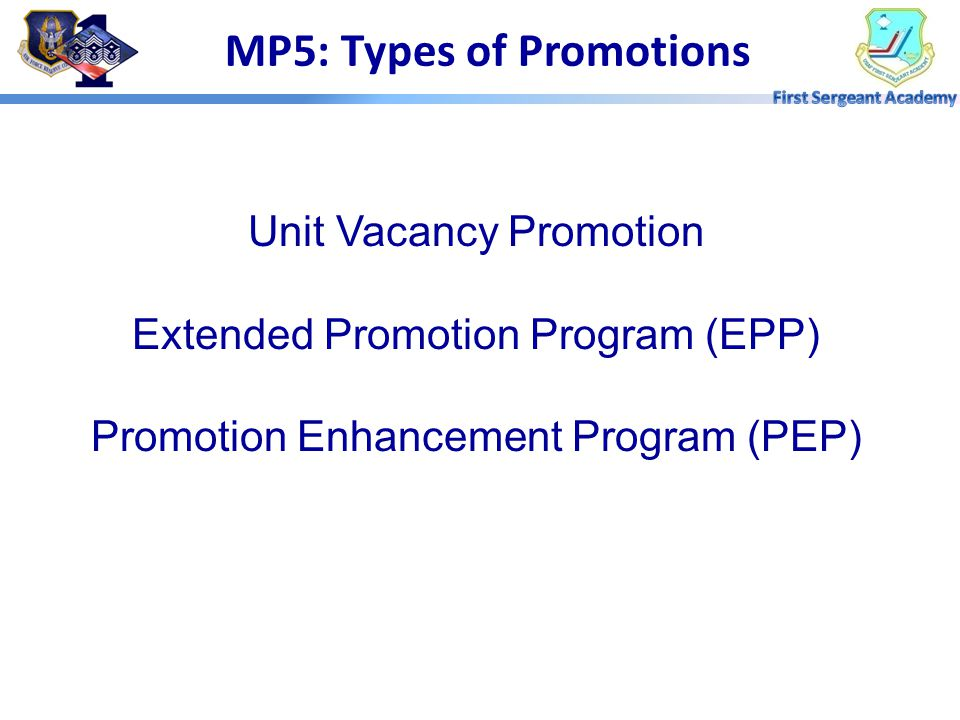 MP5: Types of Promotions