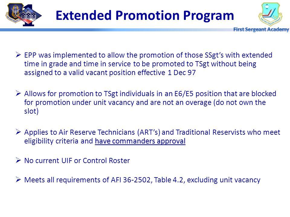 Extended Promotion Program