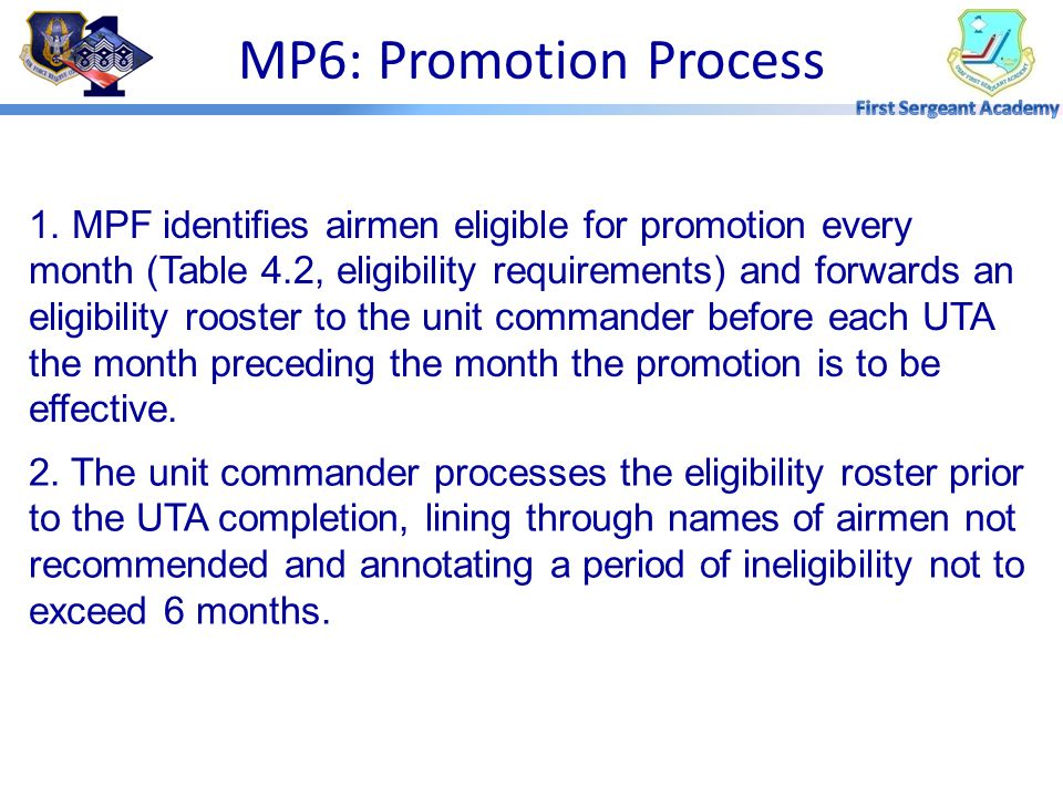 MP6: Promotion Process