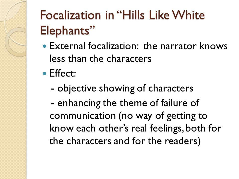 Focalization in Hills Like White Elephants