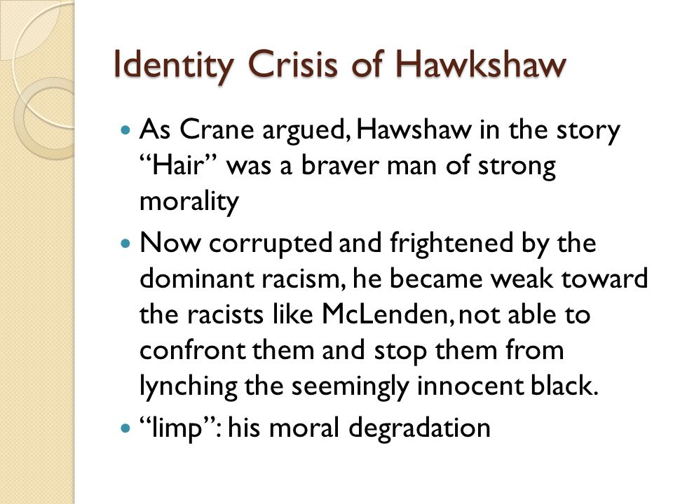 Identity Crisis of Hawkshaw