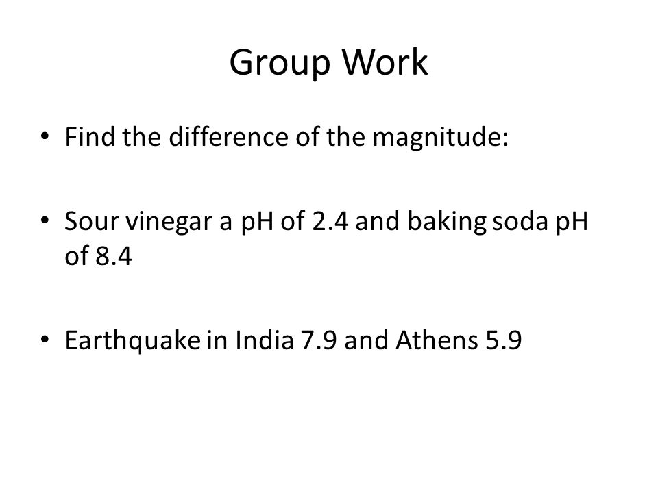 Group Work Find the difference of the magnitude: