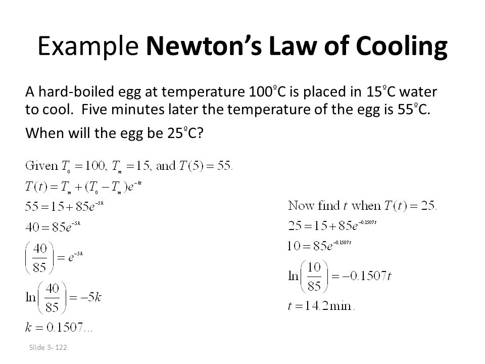 Example Newton's Law of Cooling