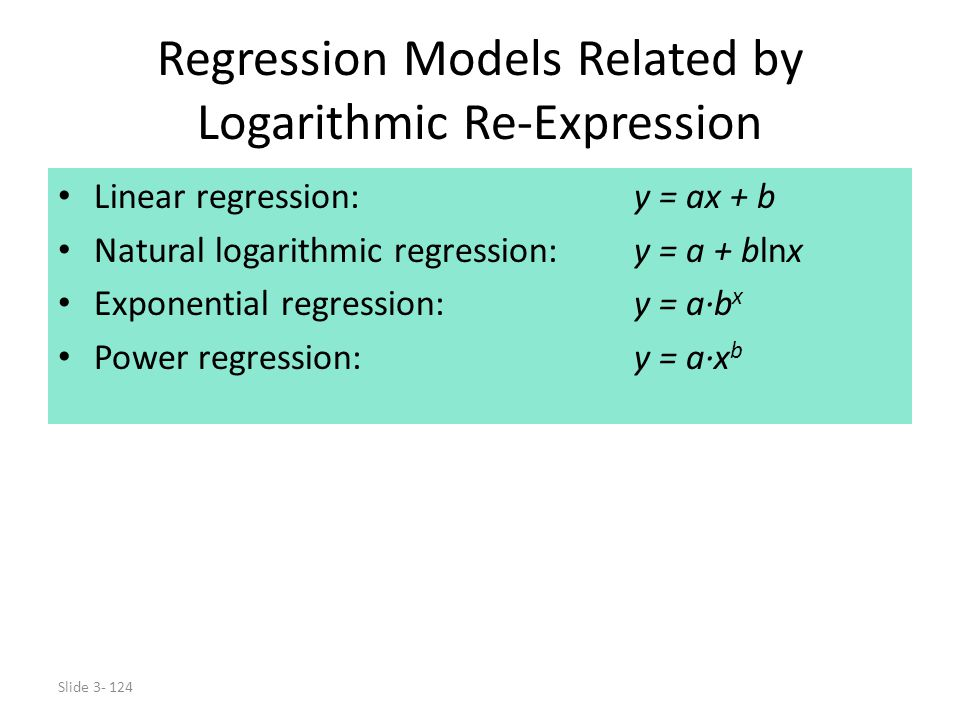 Regression Models Related by Logarithmic Re-Expression