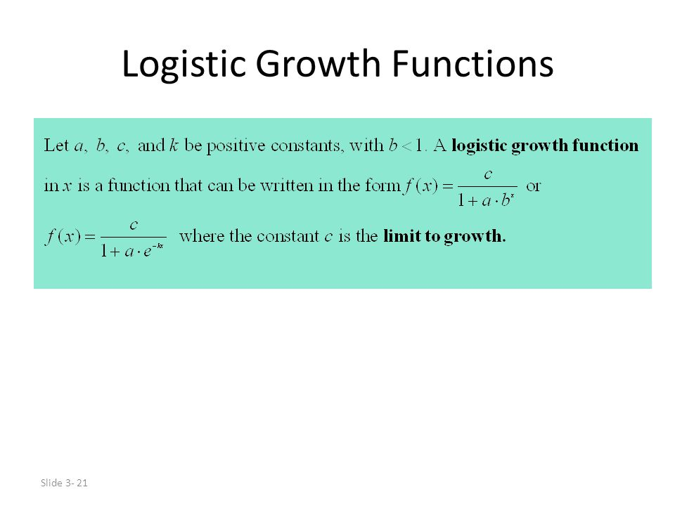 Logistic Growth Functions