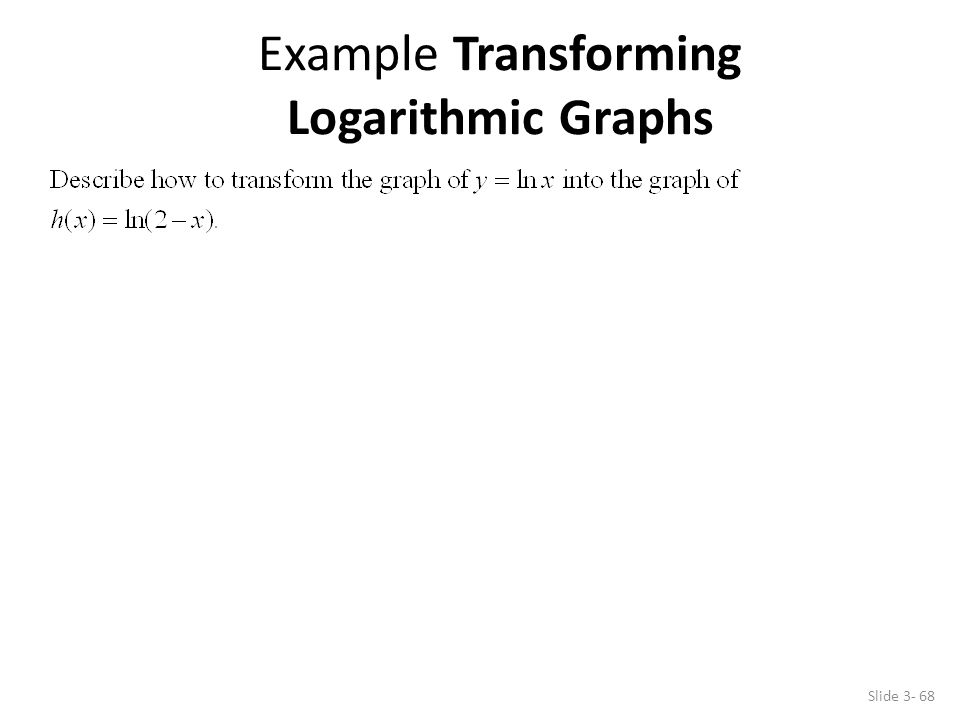 Example Transforming Logarithmic Graphs