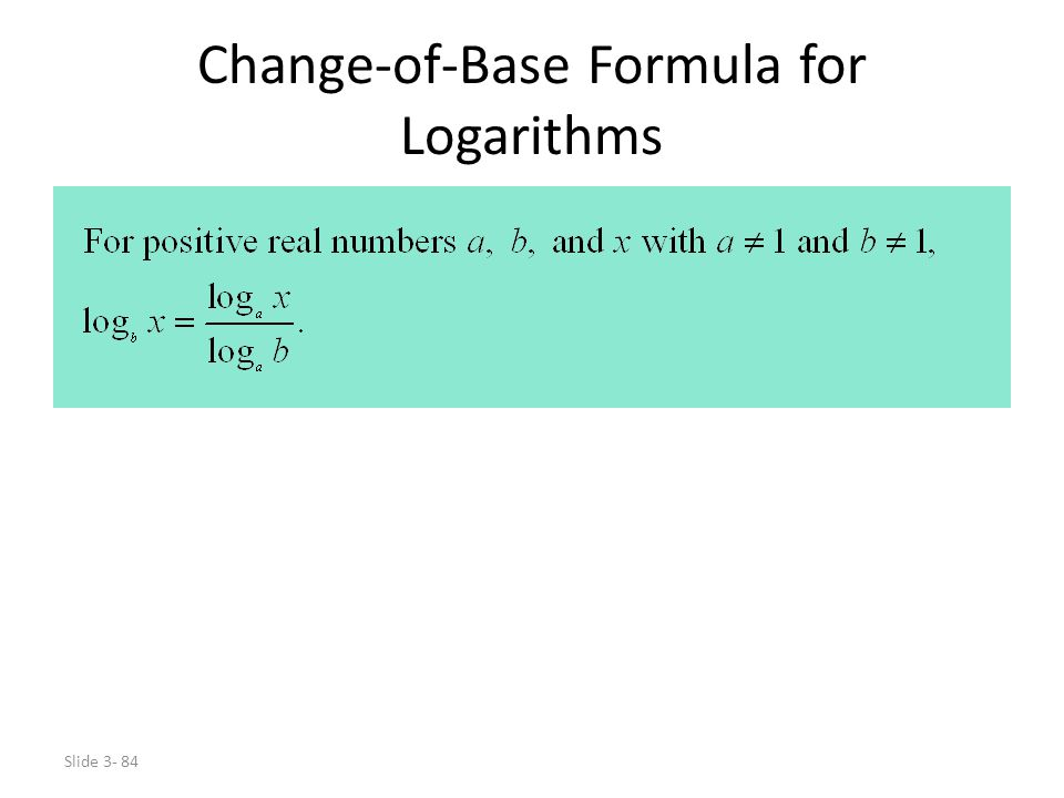 Change-of-Base Formula for Logarithms