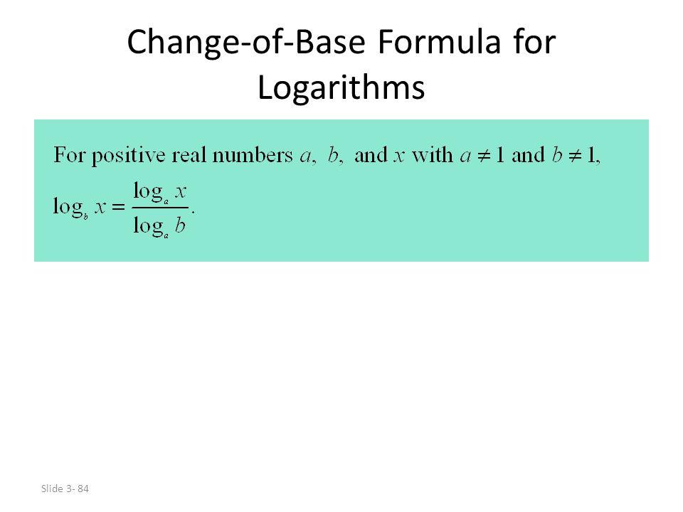 Change-of-Base Formula for Logarithms