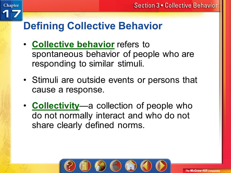 Defining Collective Behavior