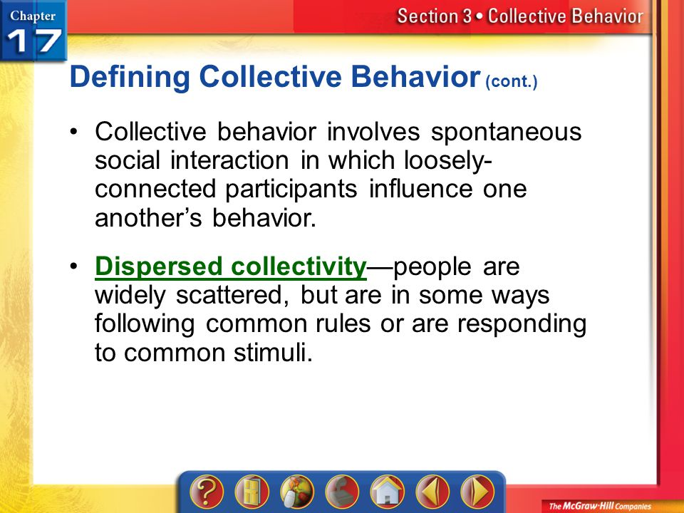Defining Collective Behavior (cont.)