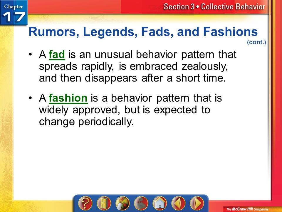 Rumors, Legends, Fads, and Fashions (cont.)