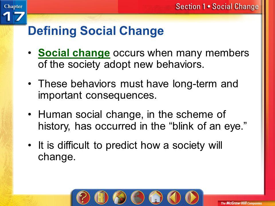 Defining Social Change