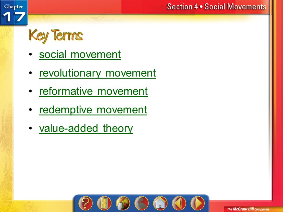 revolutionary movement reformative movement redemptive movement