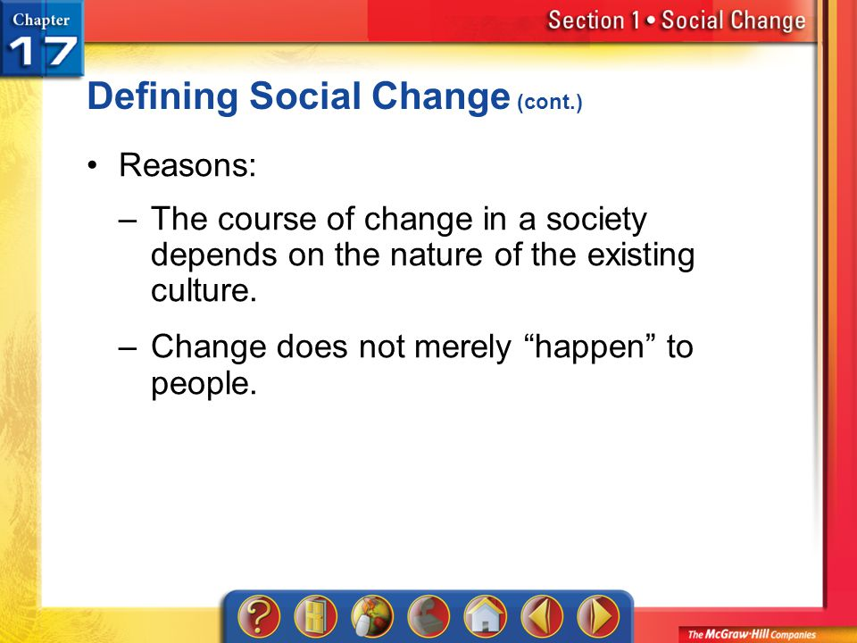 Defining Social Change (cont.)