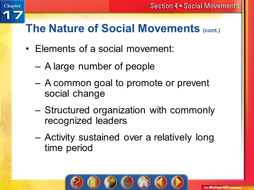 The Nature of Social Movements (cont.)