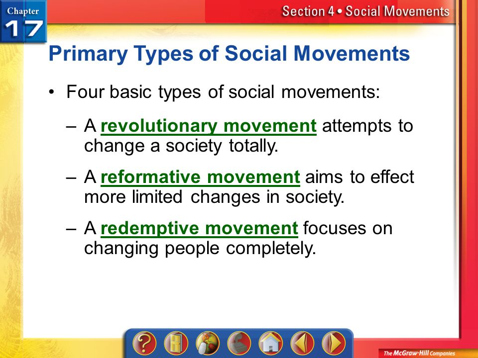 Primary Types of Social Movements