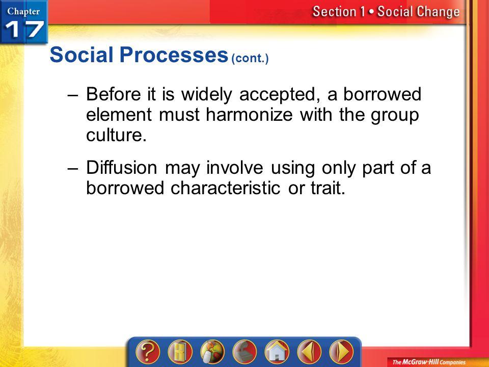 Social Processes (cont.)