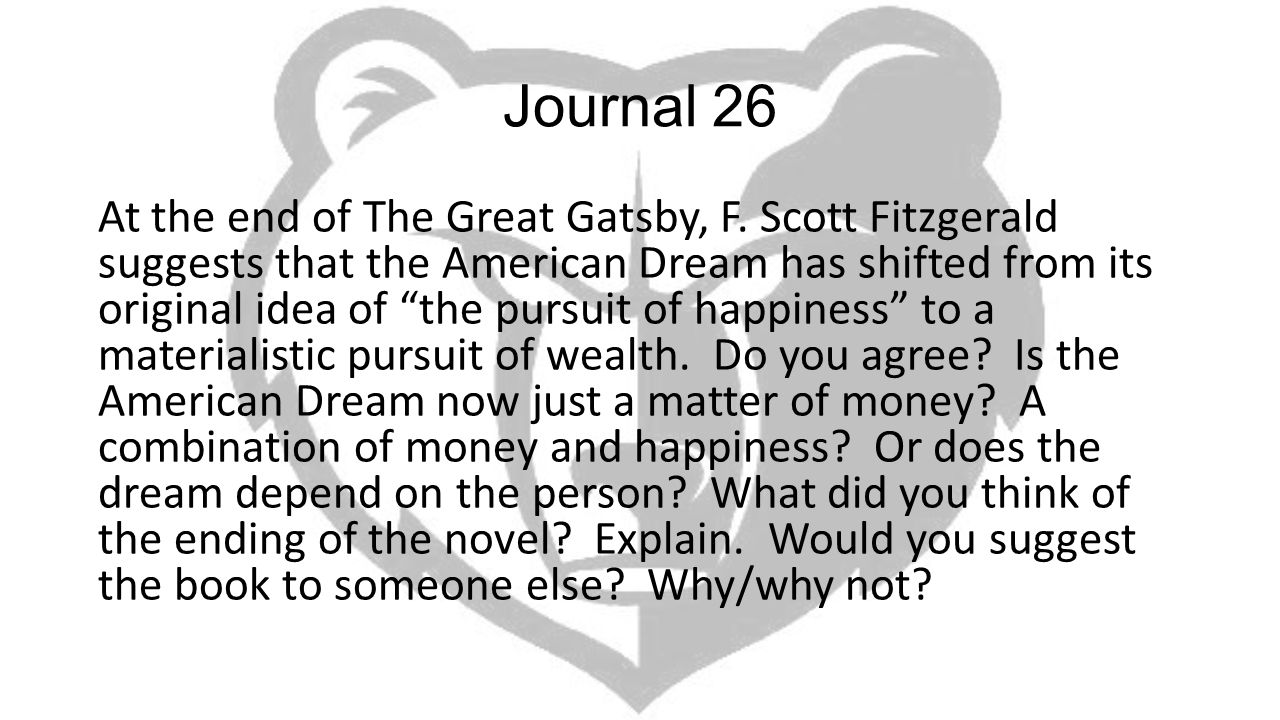 american dream in great gatsby thesis Through his novel, the great gatsby, f scott fitzgerald shows how the american dream is only the concept of perfection, something that can never be acquired, but always can be reached for daisy buchanon was always mesmerized by wealth her dream is to have a luxurious lifestyle filled splendor.