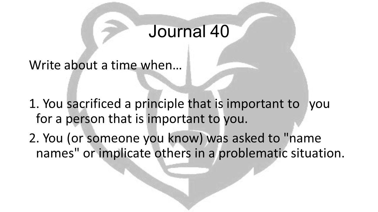 Journal 40