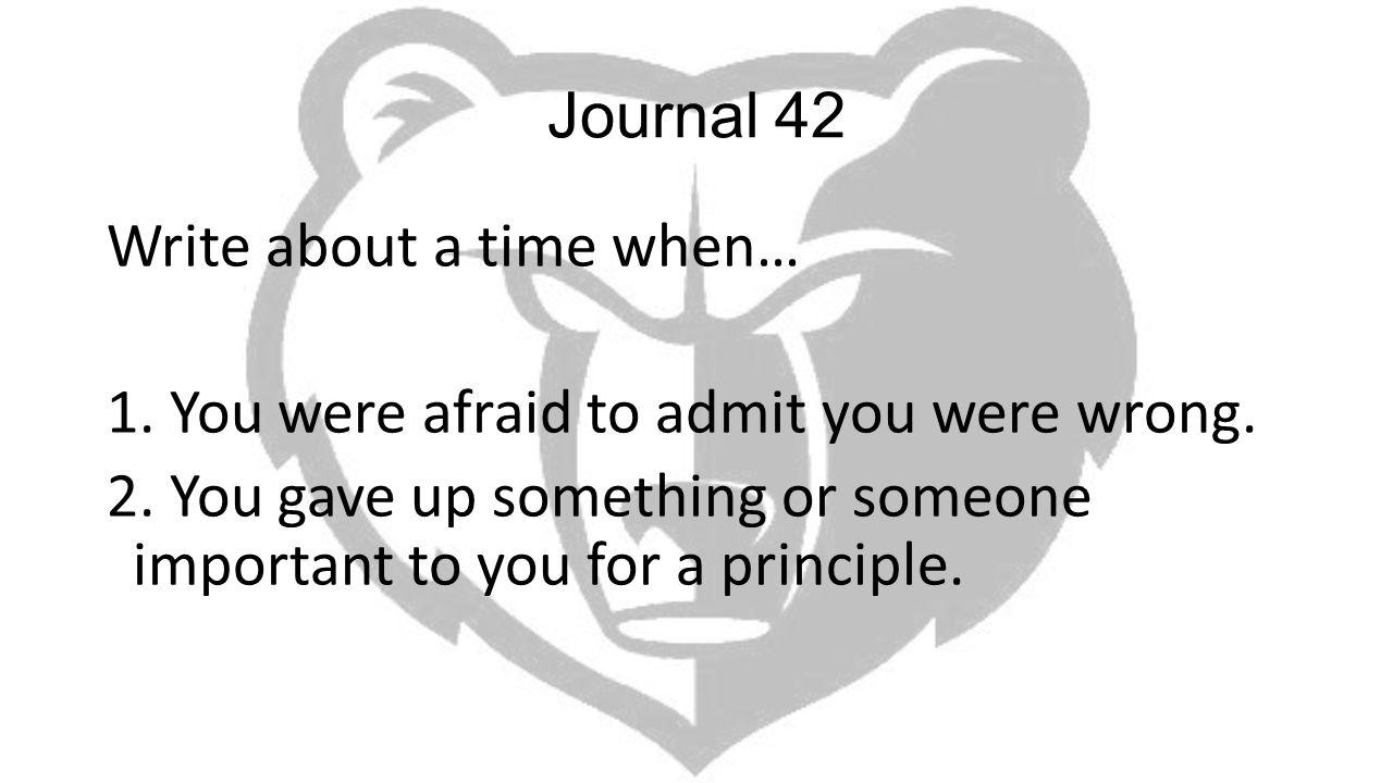 Journal 42
