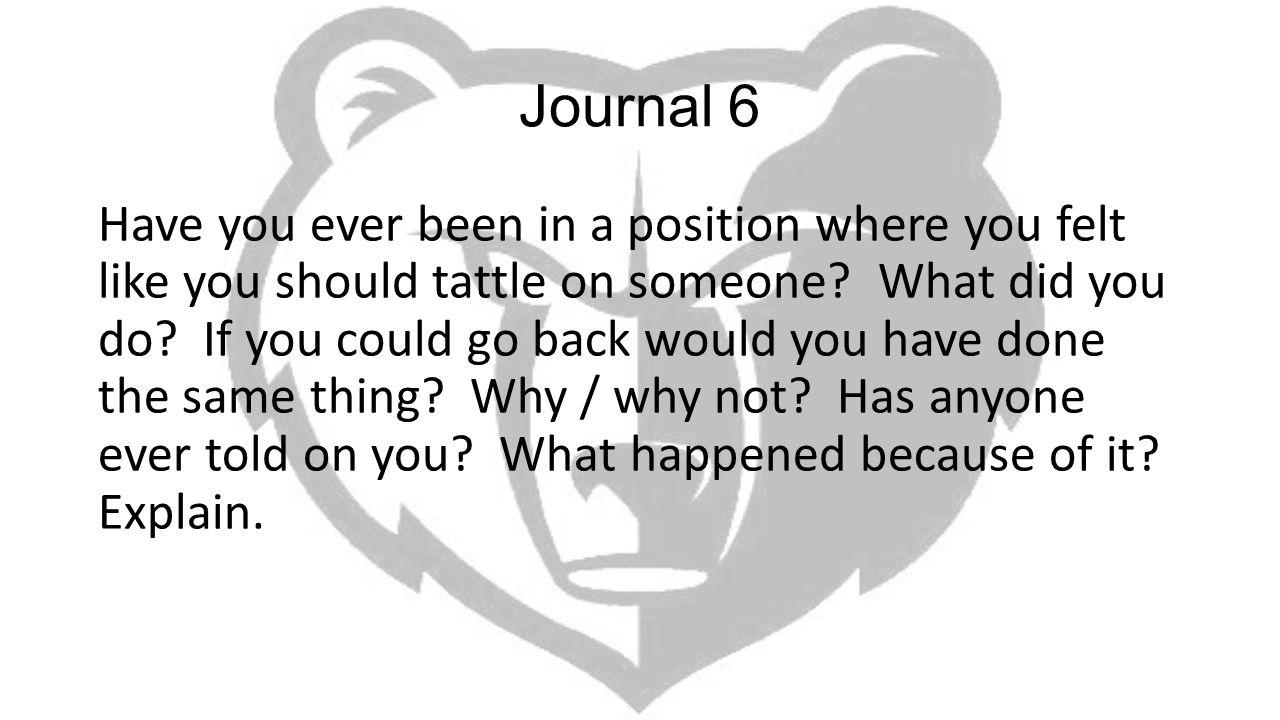 Journal 6