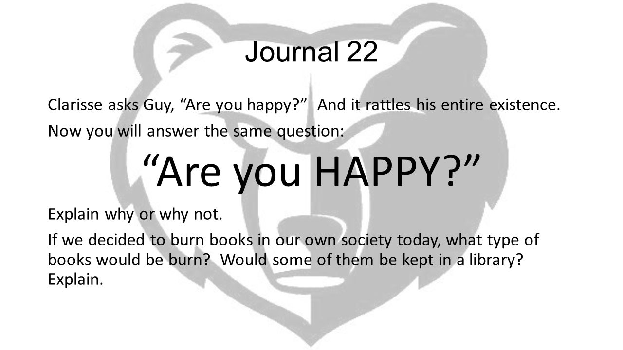 Are you HAPPY Journal 22