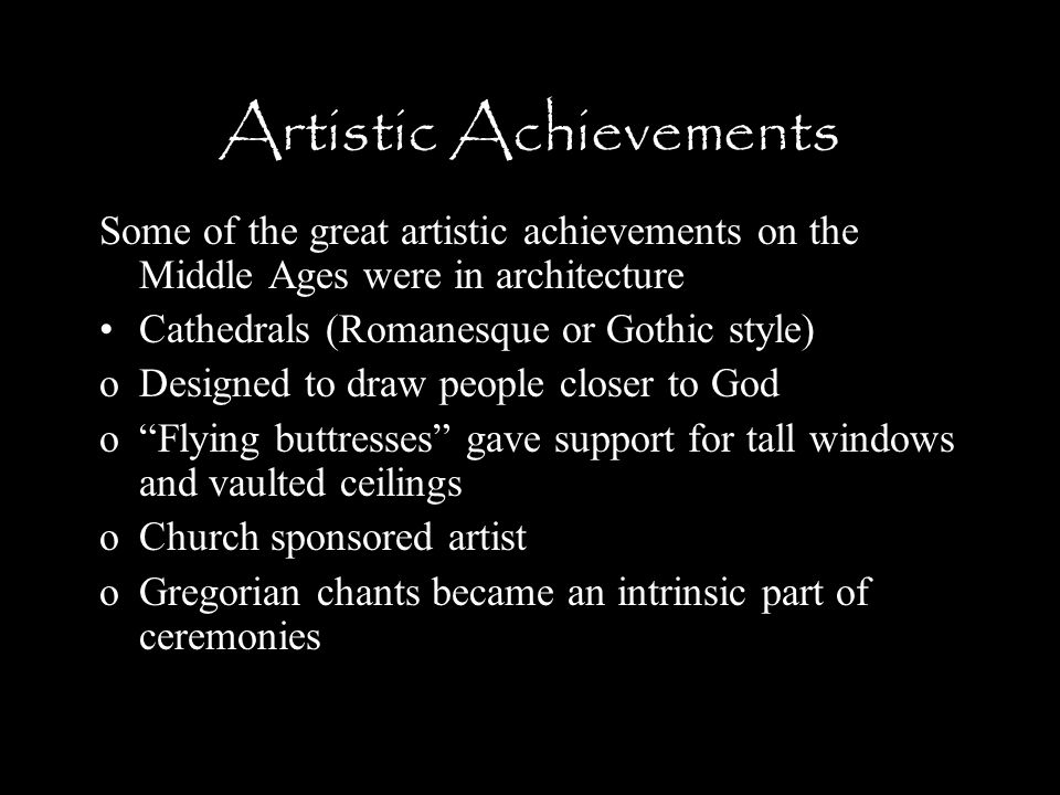 Artistic Achievements