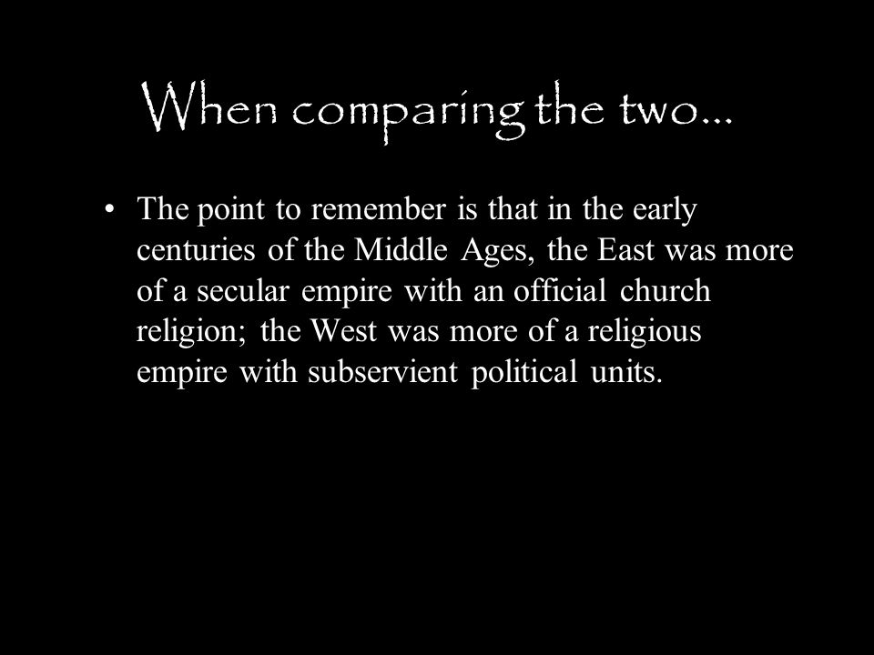 When comparing the two…