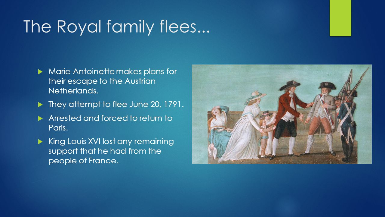 The Royal family flees... Marie Antoinette makes plans for their escape to the Austrian Netherlands.