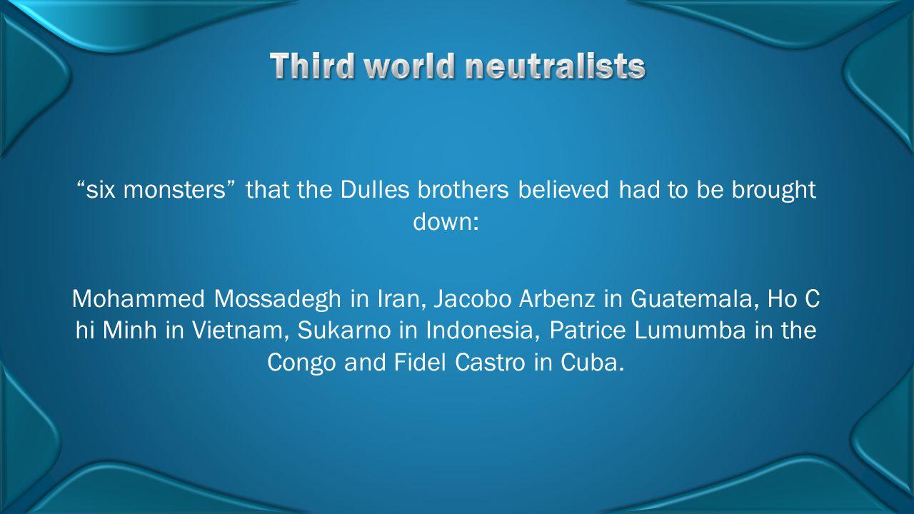 Third world neutralists