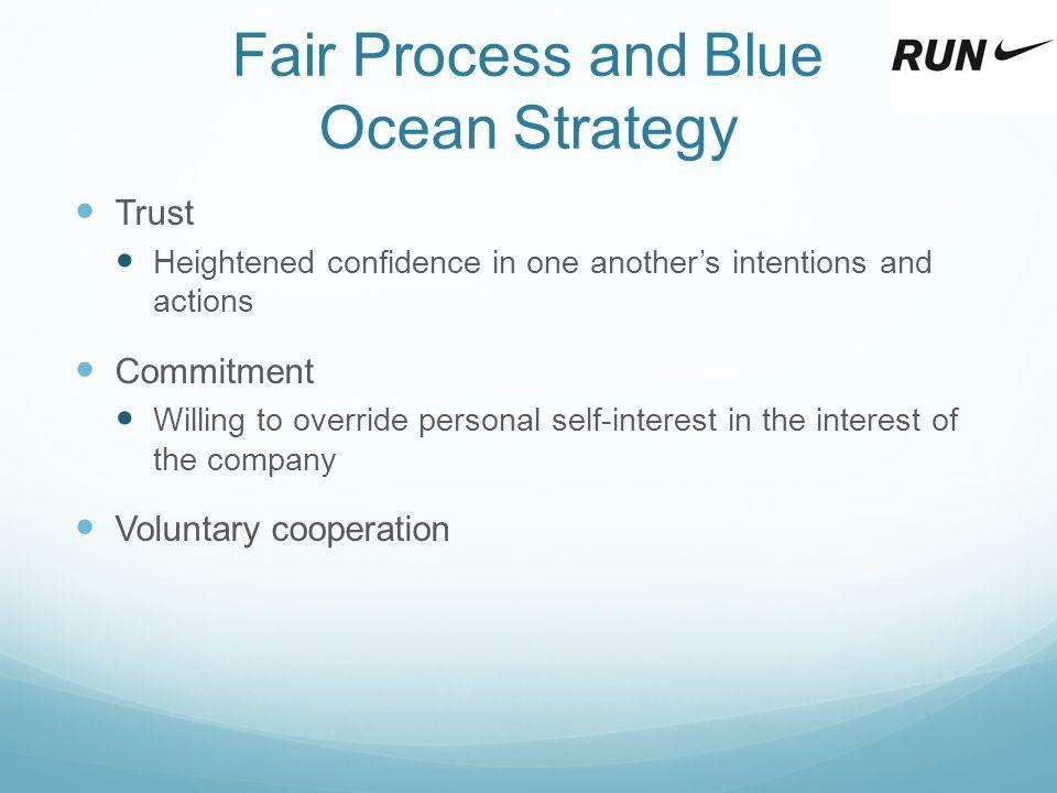 Fair Process and Blue Ocean Strategy