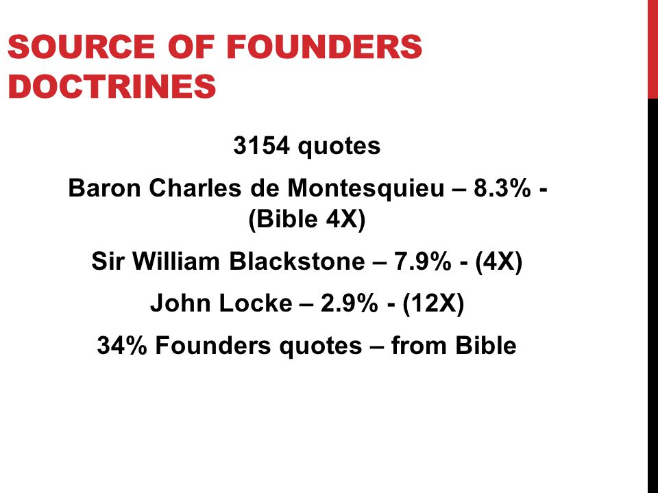 Source of Founders doctrines